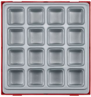Teng TTD02 Double Storage Tray - 16 Compartments